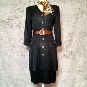 Vintage Button Up Dress w/ Accessories! 😍